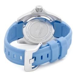 Invicta Womens Angel Crystals Blue MOP Light Blue Polyurethane Watch
