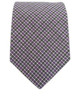 100% Cotton Lavender and Black Shirt Check Skinny Plaid