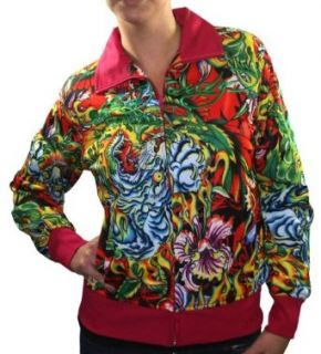 ED HARDY Christian Audigier Womens Flaming Tiger Koi Fish