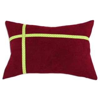 Cinnabar Lime Green Ribbon Pillow