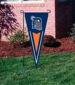 Detroit Tigers 36 inch Yard Pennant Flag with Stand