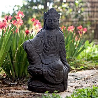 Handcrafted Quan Yin Stone Statue (Indonesia)