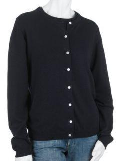 Bill Blass Womens Cardigan Long Sleeve Sweater,Navy
