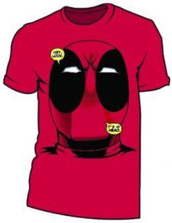 Deadpool Big Head Deadpool Red T Shirt (xxl) Clothing