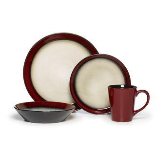 Pfaltzgraff Everyday Aria Red 16 piece Dinnerware Set