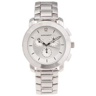 Monument Womens Stainless Steel Silvertone Sport Watch
