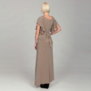 Gossip Girl Womens Flutter Sleeve Maxi Dress