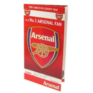 Arsenal FC. No 1 Fan Birthday Card: Sports & Outdoors