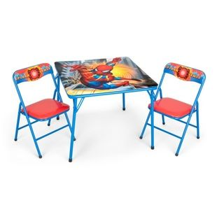 Spiderman Folding Table/ Chairs