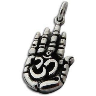 Sterling Silver Om Symbol Hand Pendant (Thailand)