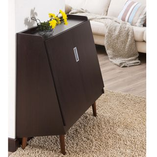 Enitial Lab Trapezy Walnut Multi purpose Storage Cabinet