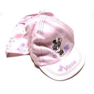 Childrens/Kids Disney Minnie Mouse Cap with back flap (0 6