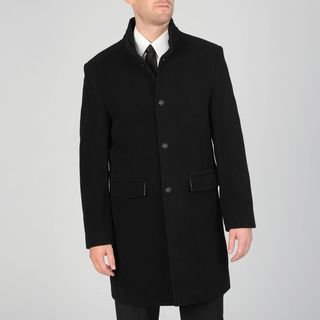 West End Mens Black Wool Blend 3 button Carcoat