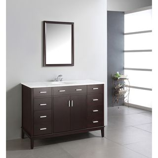 Oxford Dark Espresso Brown 48 inch Bathroom Vanity