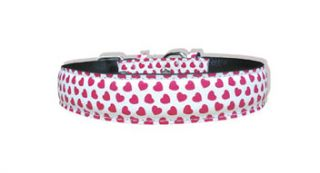 Padded 18 inch Hearts Dog Collar and Leash Set