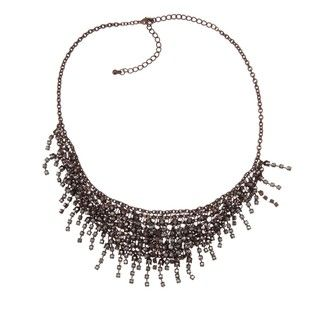 Morgan Ashleigh Brown plated Black Glass Multi strand Necklace