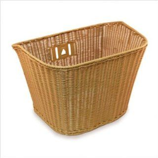 Nirve Wire & Faux Wicker Bicycle Basket