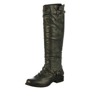 Madden Girl Womens Zoiiee Black Riding Boots FINAL SALE