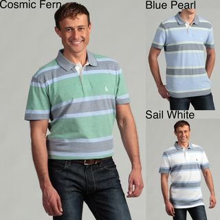 Nautica Mens Oxford Striped Polo Shirt