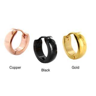 West Coast Jewelry Stainless Steel Polished Hoop Earrings