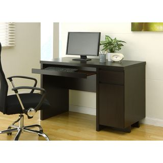 Enitial Lab Mainstreet Cappuccino Office Desk with Keyboard Tray
