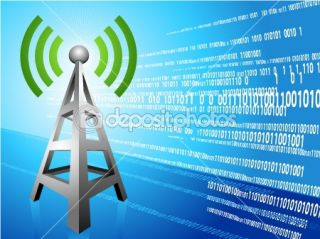 Digital Radio tower wave modern Background — Imagens vectoriais em