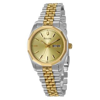 Bulova Mens Yellow Gold plated Stainless Steel Watch