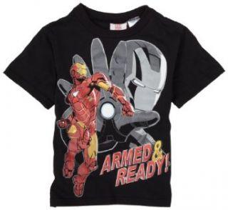 Boys 2 7 Iron Man T Shirt,Black,5: Clothing