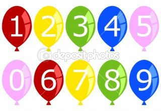 Set of Numbered Birthday Balloons  Stock Vector © Anita Potter