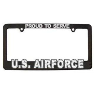 U.S. Air Force License Plate Frame Black & White Sports