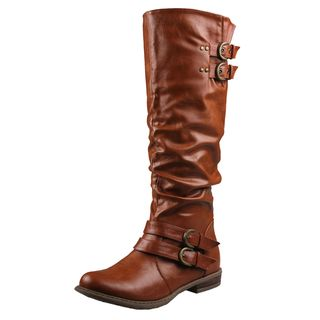 Refresh by Beston Womens Bailey 03 Cognac Riding Boots