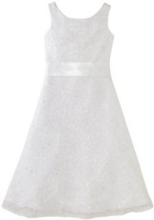 Us Angels Girls 4 6x A line Beaded Lace Dress Clothing