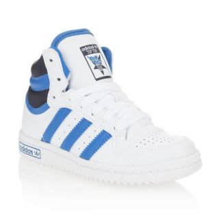 Modèle Top Ten. Coloris  Blanc, bleu royal et marine. Baskets ADIDAS
