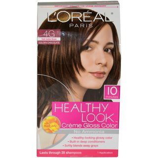 Oreal Healthy Look Dark Golden Brown Creme Gloss Hair Color