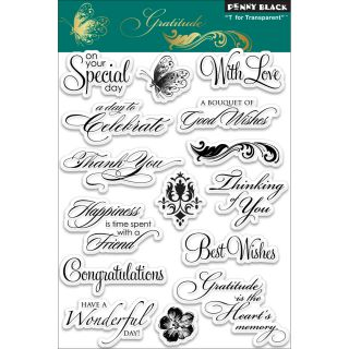 Penny Black Gratitude Clear Stamps Today $15.49 5.0 (1 reviews)
