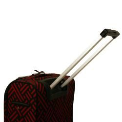 Jenni Chan Black and Red 20 inch Wheeled Carry on Upright Luggage