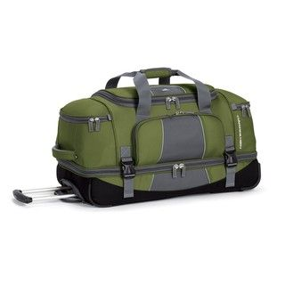 High Sierra Green Elevate 28 inch Rolling Drop bottom Duffel Bag