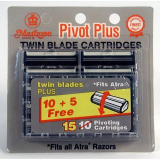 Marquee Pivot Plus Twin Blade 15 Blade Cartridges (Pack of 6