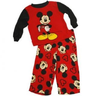 Disney Boys 2T 4T Mickey Mouse Microfleece Pajama Set (2T