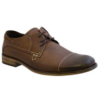 Giorgio Brutini Mens Brown Leather Oxfords