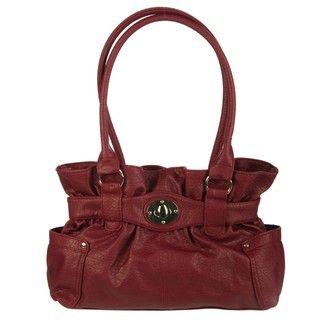 Valencia Maddie Grain Belted Shopper Bag