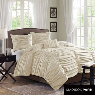 Madison Park Newport Cotton 4 piece Duvet Cover Set