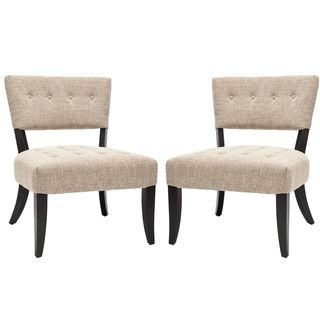 Bowery Tufted Smokey Grey Living Room Chairs (Set of 2)