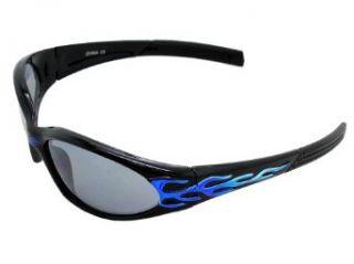 X LOOP Eyewear Kids BLACK BLUE FLAME BIKER SPORT Style