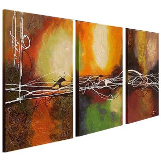 this item hand painted oil abstract canvas art set of 3 sale $ 157 49