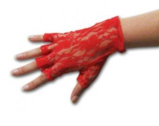Half Finger Wrist Length Lace Gloves Available in Assorted