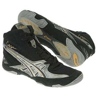 com Asics Cael V3.0 Wrestling Shoes   Black/Serpent/Gold   8.5 Shoes