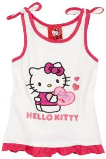 Hello Kitty Girls 2 6x White Tie Strap Tank, Bright White