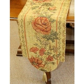 Italian Floral Woven Table Runner