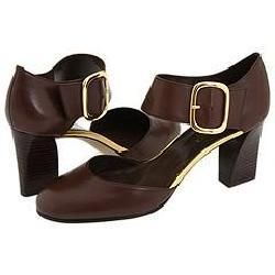 Franco Sarto Duvet Brown Leather Sandals
